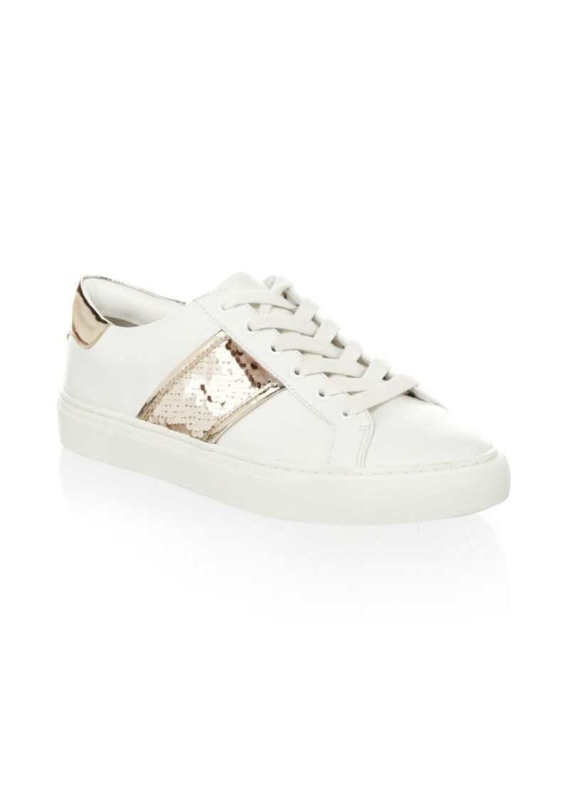 2d8e20094ea Tory Burch Carter Sequin Leather Sneakers