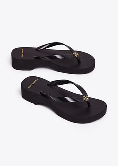 Tory Burch CARVED WEDGE FLIP-FLOP