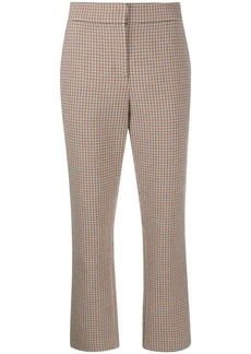 Tory Burch check button-detail trousers