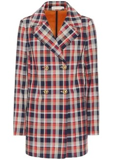 Tory Burch Checked cotton-blend blazer