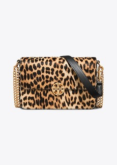 Tory Burch CHELSEA CALF HAIR CONVERTIBLE SHOULDER BAG