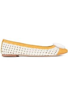 Tory Burch Chelsea woven ballerina shoes