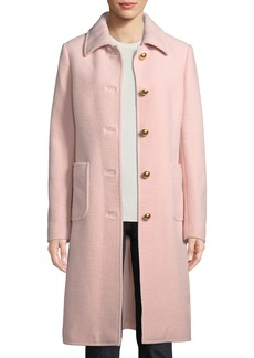 Tory Burch Colette Single-Breasted Long Wool Coat