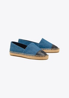 Tory Burch COLOR-BLOCK DENIM ESPADRILLE