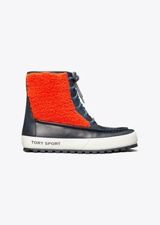 Tory Burch Color-Block Lace-Up Boots