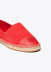 Tory Burch COLOR-BLOCK MIXED-MATERIAL ESPADRILLE