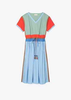 Tory Burch Color-Block Poplin Dress
