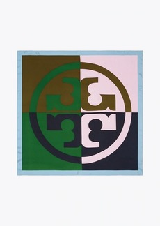 Tory Burch Color-Block Silk Square Scarf