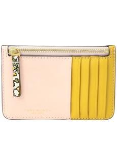 Tory Burch Color Block Top Zip Card Case