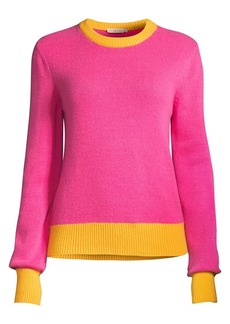 Tory Burch Colorblock Cashmere Sweater