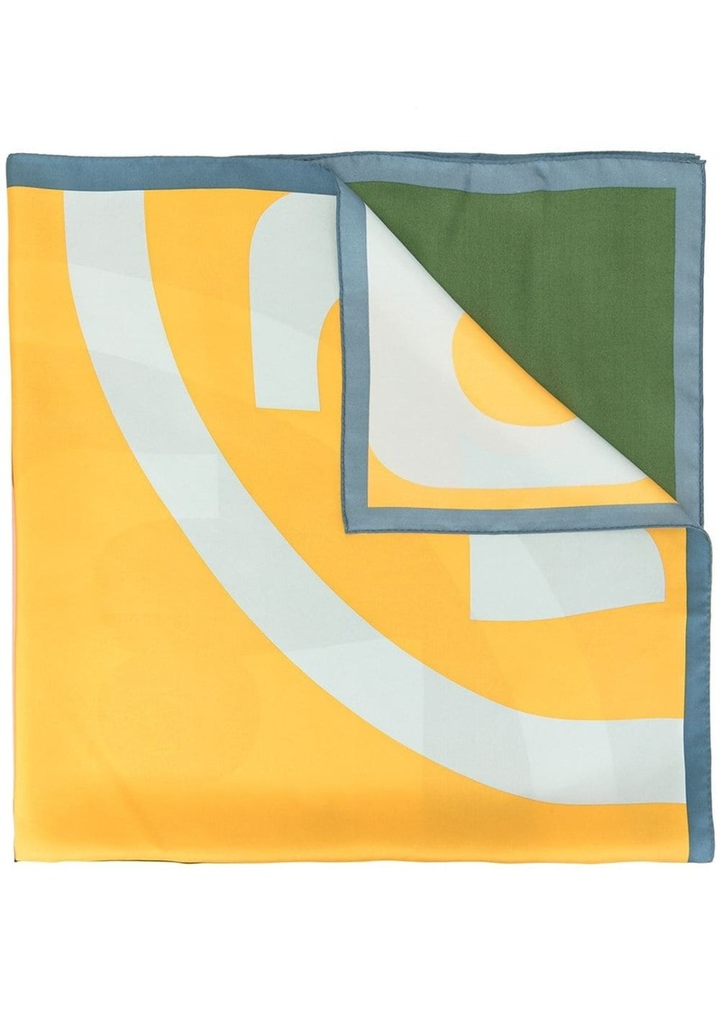 Tory Burch colour block scarf