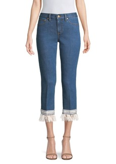 Tory Burch Connor Cropped Fringed Jeans