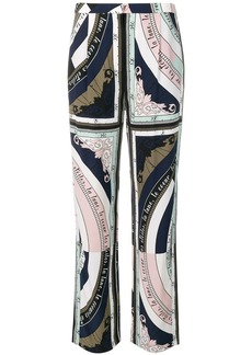 Tory Burch constellation printed trousers