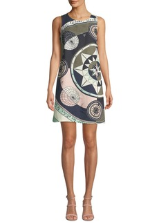 Tory Burch Constellation Sleeveless Linen-Blend Short Dress