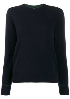 Tory Burch contrast-stitching cashmere pullover