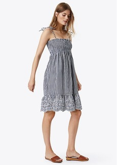 Tory Burch CONVERTIBLE GINGHAM BEACH DRESS