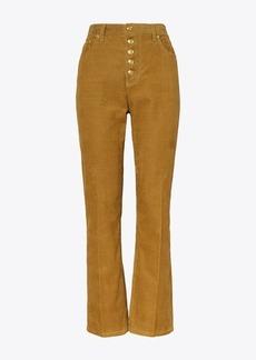 Tory Burch Corduroy Button-Fly Jean