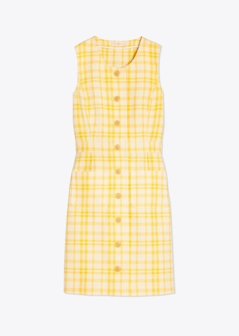 Tory Burch Cotton Jacquard Shift Dress