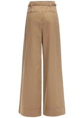 Tory Burch Cotton Poplin Wide Leg Pants