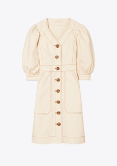 Tory Burch Cotton Puffed-Sleeve Dress