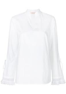 Tory Burch crochet v-neck shirt