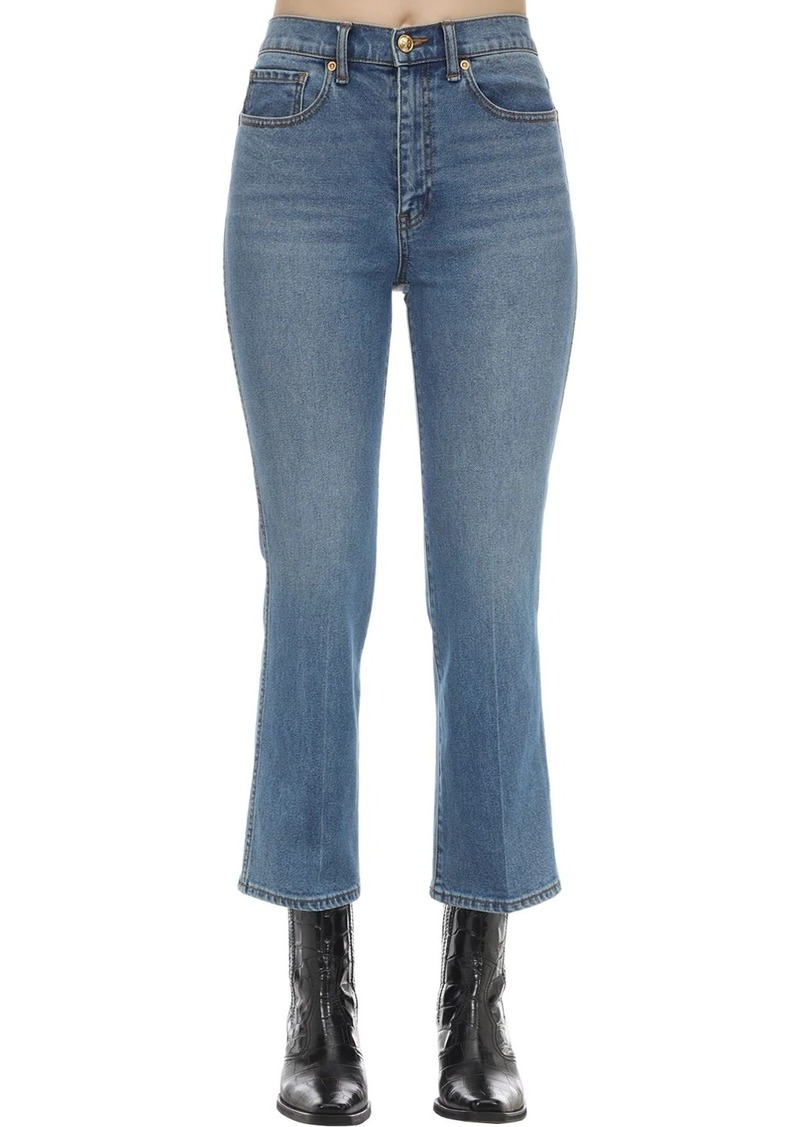 Tory Burch Cropped Cotton Denim Jeans