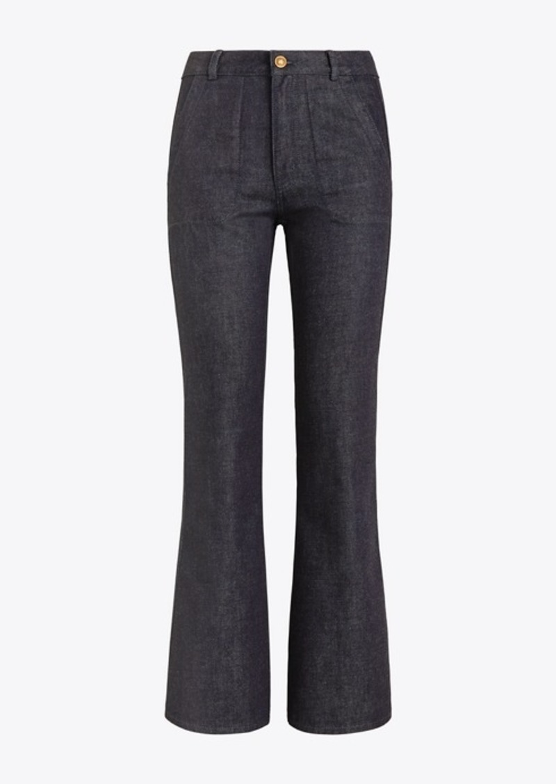 Tory Burch Cropped Flare Jean