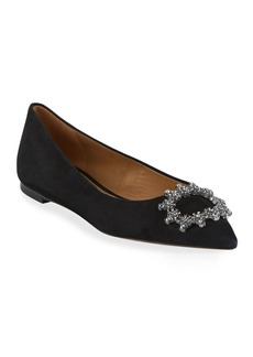 Tory Burch Crystal Buckle Ballet Flats