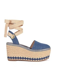 DANDY DENIM ESPADRILLE WEDGE