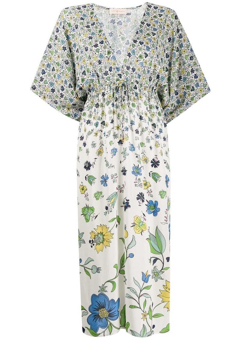 Tory Burch degradé flora-print dress