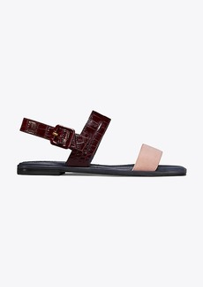 Tory Burch DELANEY COLOR-BLOCK FLAT SANDAL