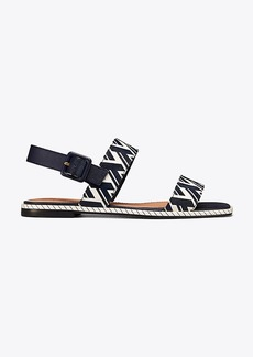 Tory Burch DELANEY PRINTED FLAT SANDAL