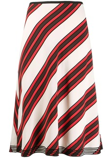 Tory Burch diagonal stripe A-line skirt