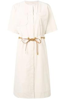 Tory Burch drawstring waist shirt dress