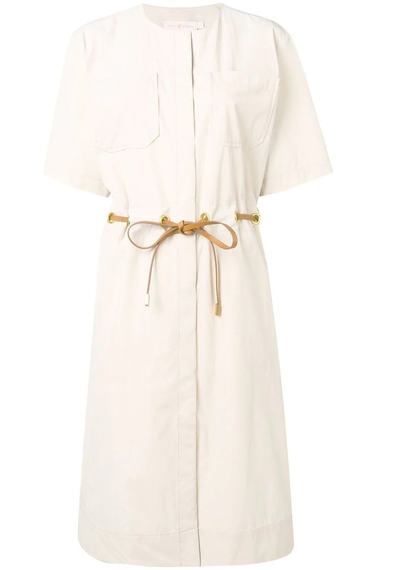 Tory Burch drawstring waist shirt dress