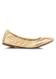 Tory Burch Eddie Metallic Leather Ballet Flats