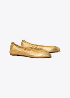 Tory Burch Eddie Metallic Ballet Flat