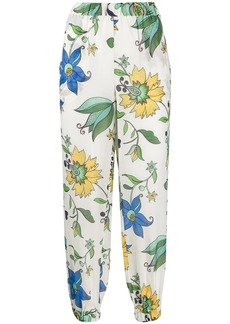 Tory Burch elasticated floral print trousers
