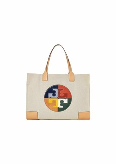 Tory Burch Ella Color Block Logo Tote