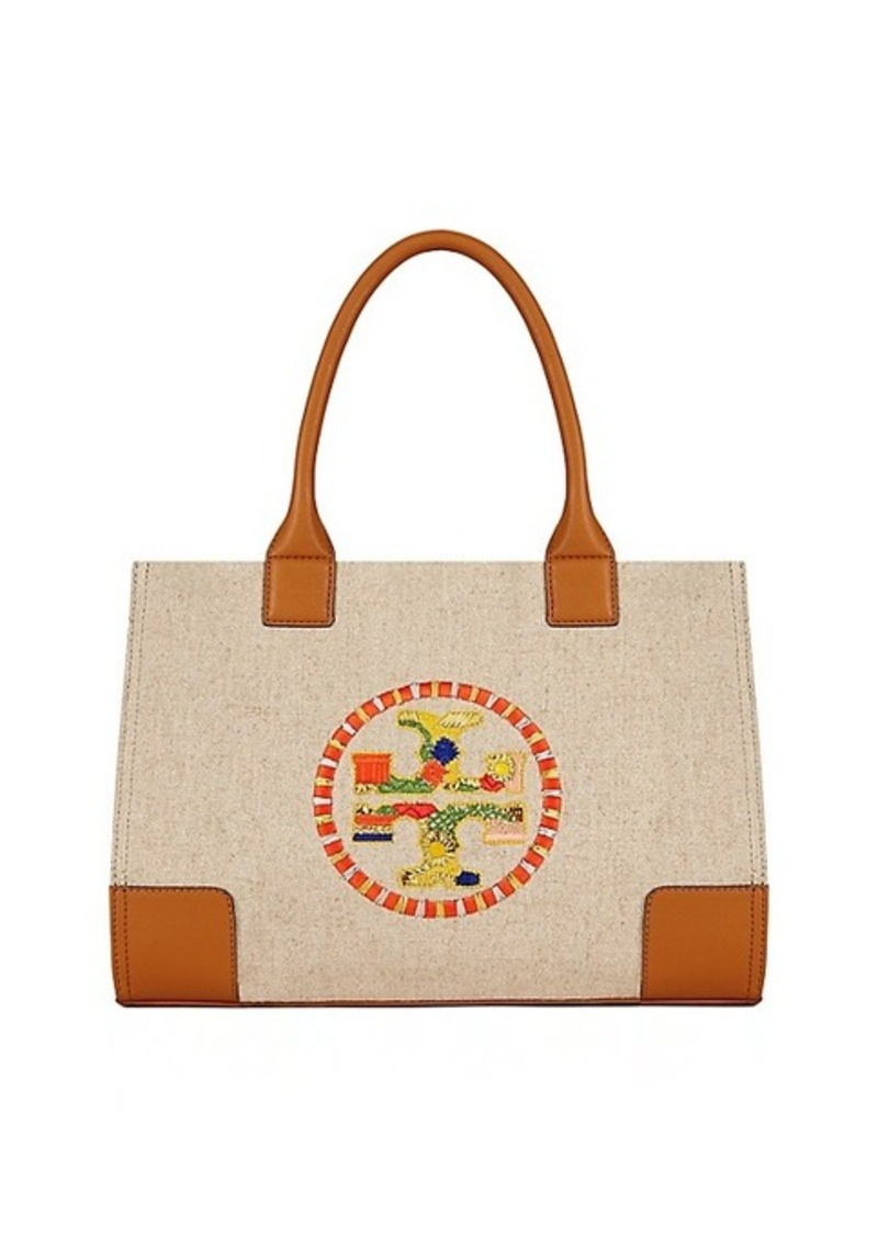 Tory Burch Ella Embroidered Mini Tote Handbags Nylon