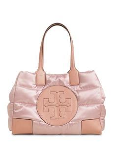 Tory Burch Ella Mini Quilted Nylon Lamé Tote Bag