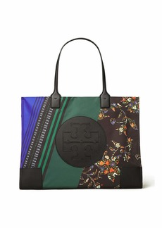 Tory Burch Ella Mixed Print Tote Bag