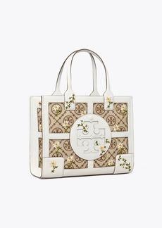 Tory Burch Ella T Monogram Embroidered Mini Tote Bag