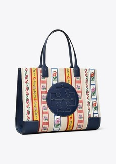 Tory Burch Ella Webbing Patchwork Tote Bag
