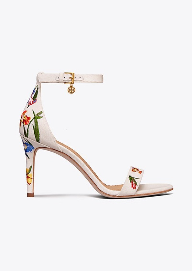 278bbf49bed Tory Burch ELLIE EMBROIDERED ANKLE-STRAP SANDAL