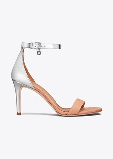 ELLIE METALLIC ANKLE-STRAP SANDAL