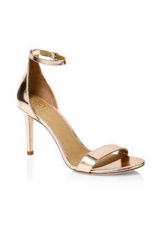 Tory Burch Ellie Metallic Leather Ankle-Strap Sandals