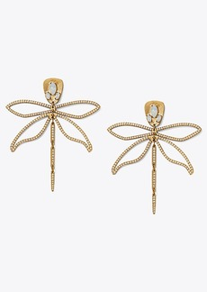 Tory Burch SMALL EMBELLISHED ARTICULATED DRAGONFLY EARRING