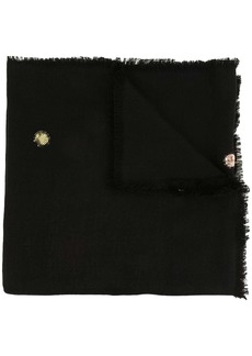 Tory Burch embellished logo jacquard scarf