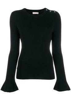 Tory Burch embellished shoulder knit top